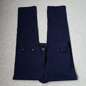 Zac & Rachel Slim Ankle Pants in Navy